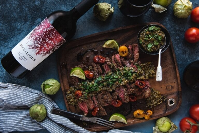 Rebellious wine and skirt steak recipe