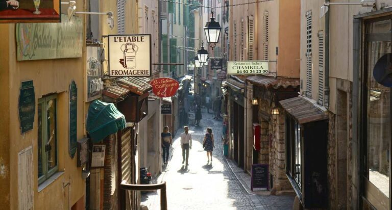 French town road and fromagerie